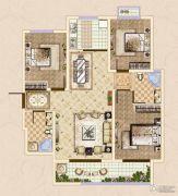 皓顺・华悦城3室2厅1卫111平方米户型图