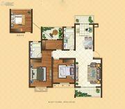格林悦城3室2厅2卫109平方米户型图