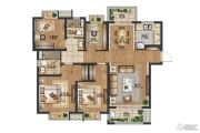 禹洲吉庆里4室2厅2卫128平方米户型图