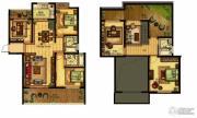 合力・铂金公馆3室2厅3卫173--174平方米户型图