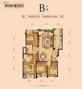 新江与城悠澜4室2厅2卫125平方米户型图