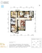 满堂悦MOMΛ3室2厅2卫106平方米户型图
