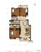 滨河龙韵3室2厅1卫113平方米户型图