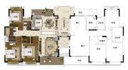 雅居乐・山海郡3室2厅2卫143--145平方米户型图