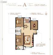 泰华・梧桐苑一期3室2厅2卫124--128平方米户型图