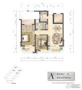 新湖国际2室2厅1卫87平方米户型图