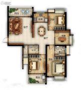 滨江熙岸4室2厅2卫155平方米户型图