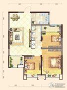 弘洋・拉菲小镇3室2厅1卫88平方米户型图