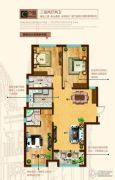 奥北公元3室2厅2卫133平方米户型图