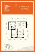 金泰舒格�m2室2厅1卫84平方米户型图