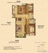 中海锦��湾3室2厅2卫110平方米户型图