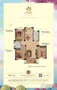 花园半岛  多层3室2厅2卫115平方米户型图