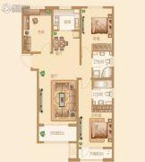 新华联雅园3室2厅2卫127平方米户型图