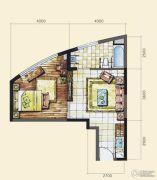 长岛蓝湾1室1厅1卫71平方米户型图