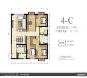 外滩名著4室2厅2卫0平方米户型图