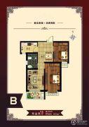 北港蓝湾2室2厅1卫86平方米户型图