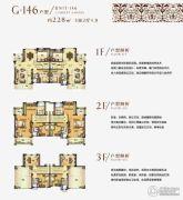 碧桂园城市花园5室2厅4卫228平方米户型图