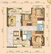 北海恒大雅苑3室2厅2卫100平方米户型图