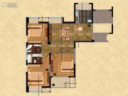 观山名筑3室2厅2卫125平方米户型图