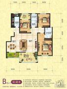 梦幻谷・�|方�A府3室2厅2卫138平方米户型图