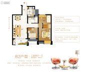 容州港九城3室2厅1卫89平方米户型图