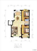 辽阳泛美华庭2室2厅1卫104平方米户型图