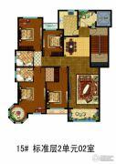 万国园白金汉府4室2厅2卫177平方米户型图