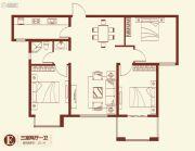紫薇壹�3室2厅1卫112平方米户型图