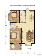 华建新城2室2厅1卫103平方米户型图