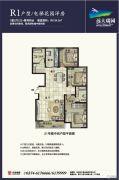 远大瑞园二期3室2厅2卫134平方米户型图