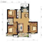 尚贤府3室2厅2卫129平方米户型图