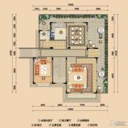 浪琴湾1室2厅1卫133平方米户型图