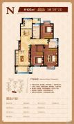 海洲・铂兰庭3室2厅2卫79--126平方米户型图