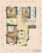 半山壹号4室2厅2卫135平方米户型图
