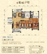 顺江・帝景城Ⅱ期.帝�o2室2厅2卫183平方米户型图