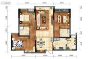 戛纳湾金棕榈3室2厅2卫96平方米户型图
