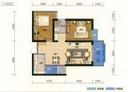 俊发盛唐城2室2厅1卫81平方米户型图
