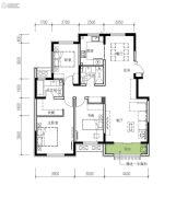 民生城・逸兰汐3室2厅2卫132平方米户型图