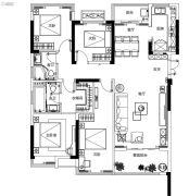 融侨观澜4室2厅2卫132平方米户型图