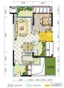 远达春天里2室2厅1卫78平方米户型图