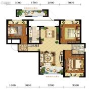 宝能水岸康城3室2厅2卫89平方米户型图