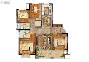 天地源拾锦香都4室2厅2卫139平方米户型图