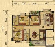 香樟美地3室2厅2卫113平方米户型图