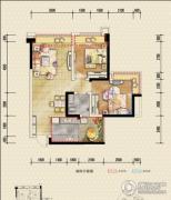 恒邦・时代青江二期2室2厅1卫59平方米户型图