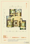 天成熙园3室2厅1卫107平方米户型图