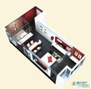 博辉戴河国际1室1厅1卫56平方米户型图