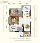 香槟小镇2室2厅2卫103平方米户型图