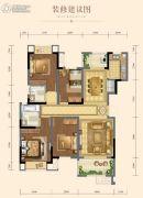 新城・悦隽天府3室2厅2卫100平方米户型图