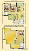 远达天际上城4室2厅2卫151平方米户型图