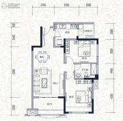 誉城国际2室2厅1卫82平方米户型图